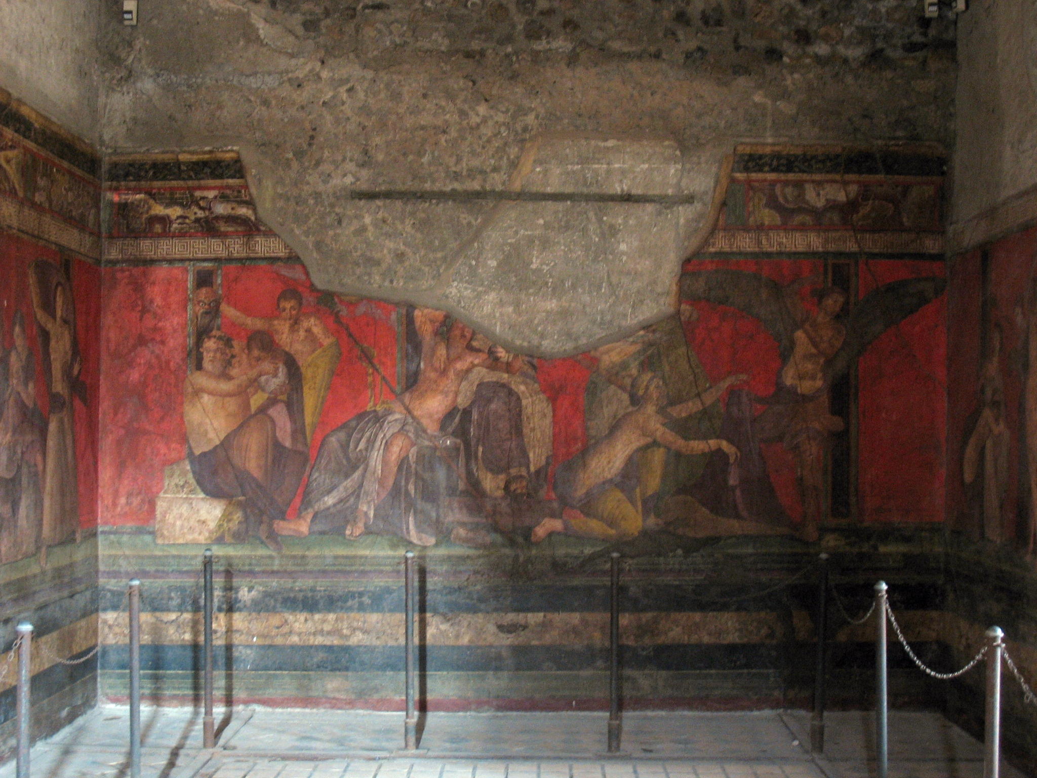 Pompeii herculaneum rediscovering roman art culture for Ancient mural villa